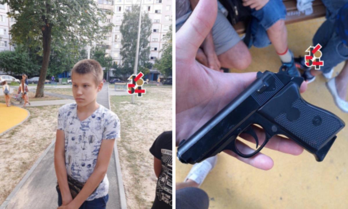 Фото с места стрельбы на детской площадке / Харьков 1654