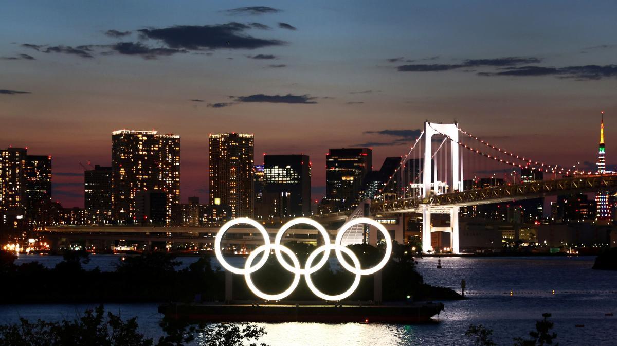 Олимпийские кольца в Токио / фото REUTERS