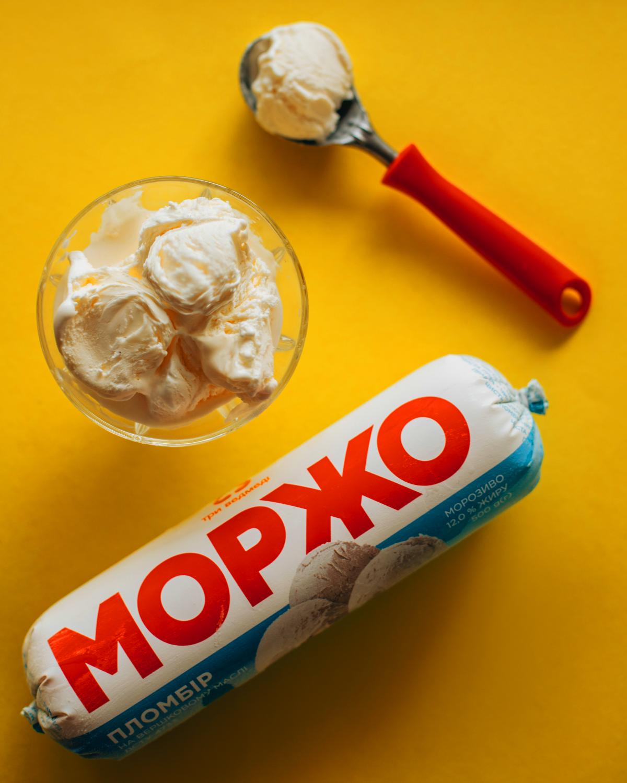 Морозиво пломбір МОРЖО в п/е пакеті 1кг