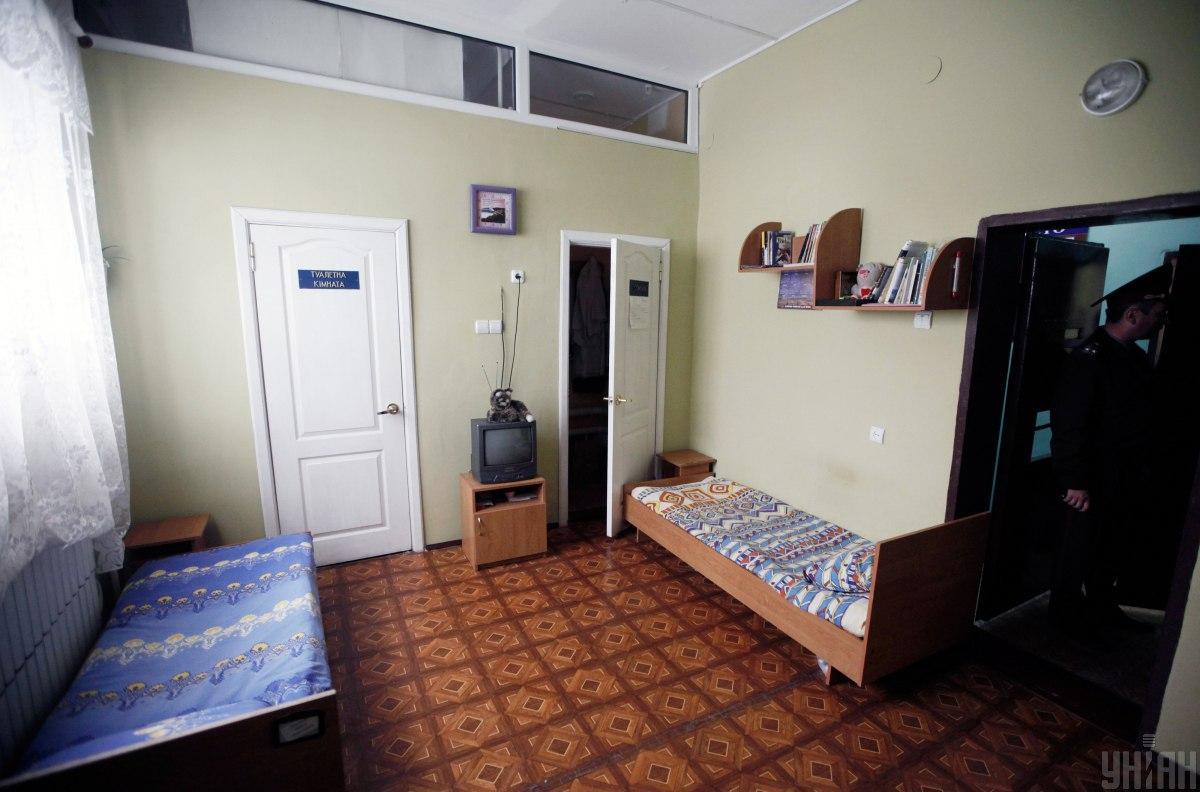 Жилая комната в Качановской исправительной колонии №54 / фото УНИАН, Владислав Мусиенко