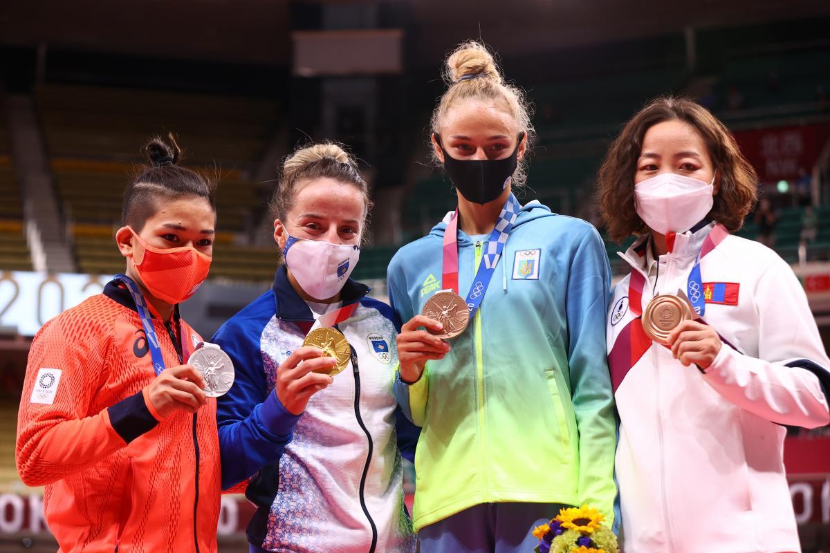 Дар'я Білодід - серед призерок змагань/ фото REUTERS