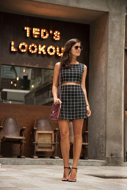 Стильные летние костюмы с топами / фото pinterest.com