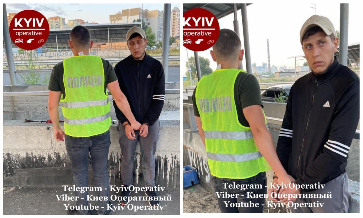 Зловмисника оперативно затримали / фото: Киев Оперативный Facebook