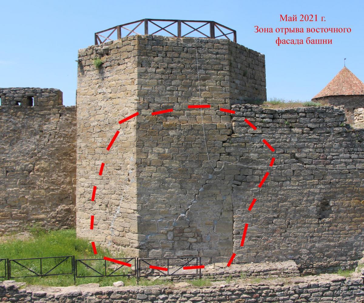 Наиболее серьезная проблема в Аккерманской крепости связана с башней №2 / фото Андрей Красножон