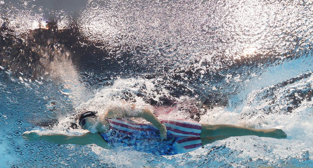 Видатна американська плавчиня Кетлін Ледекі взяла срібло у третій ігровий день/ фото REUTERS