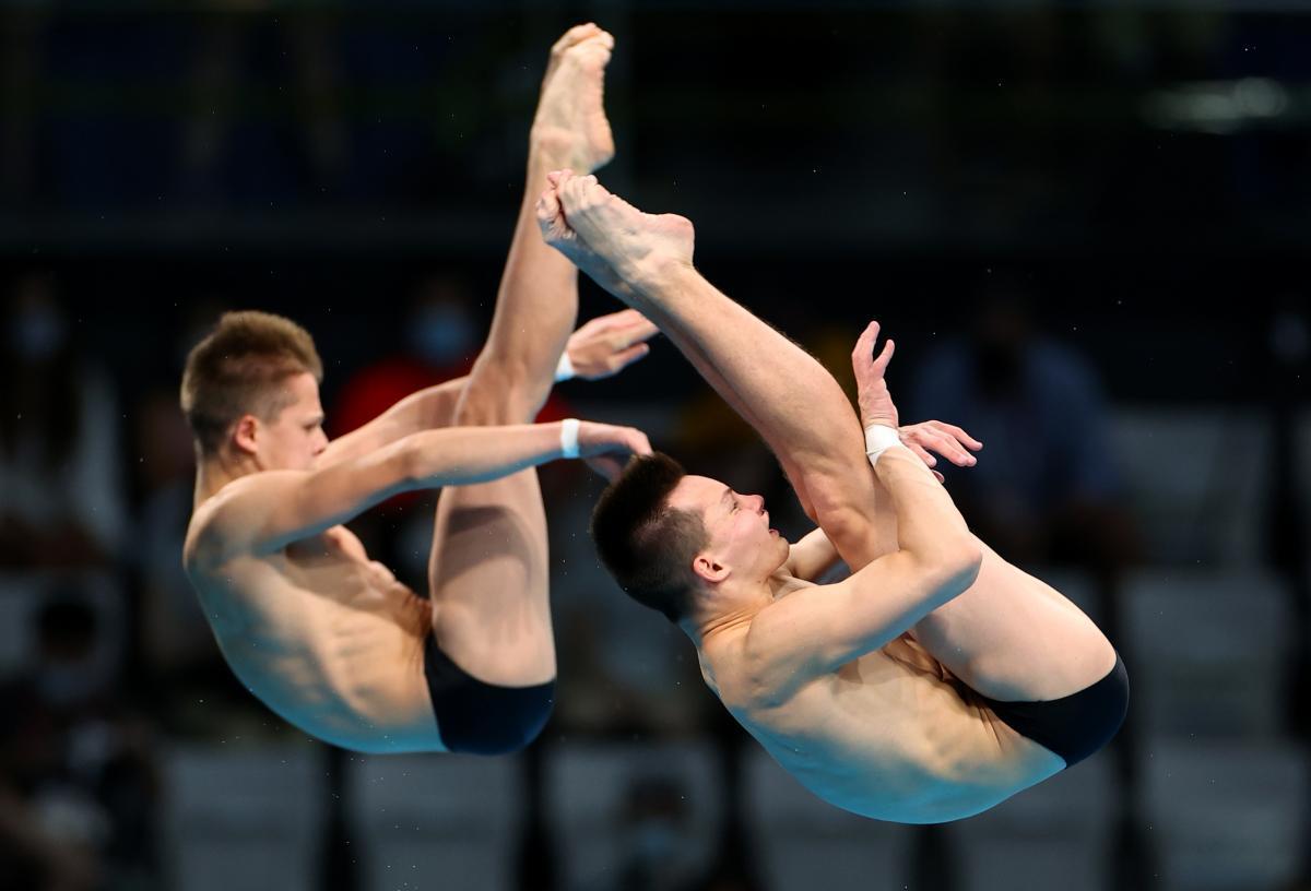 Олег Сербин и Алексей Середа заняли шестое место в синхронных прыжках / фото REUTERS