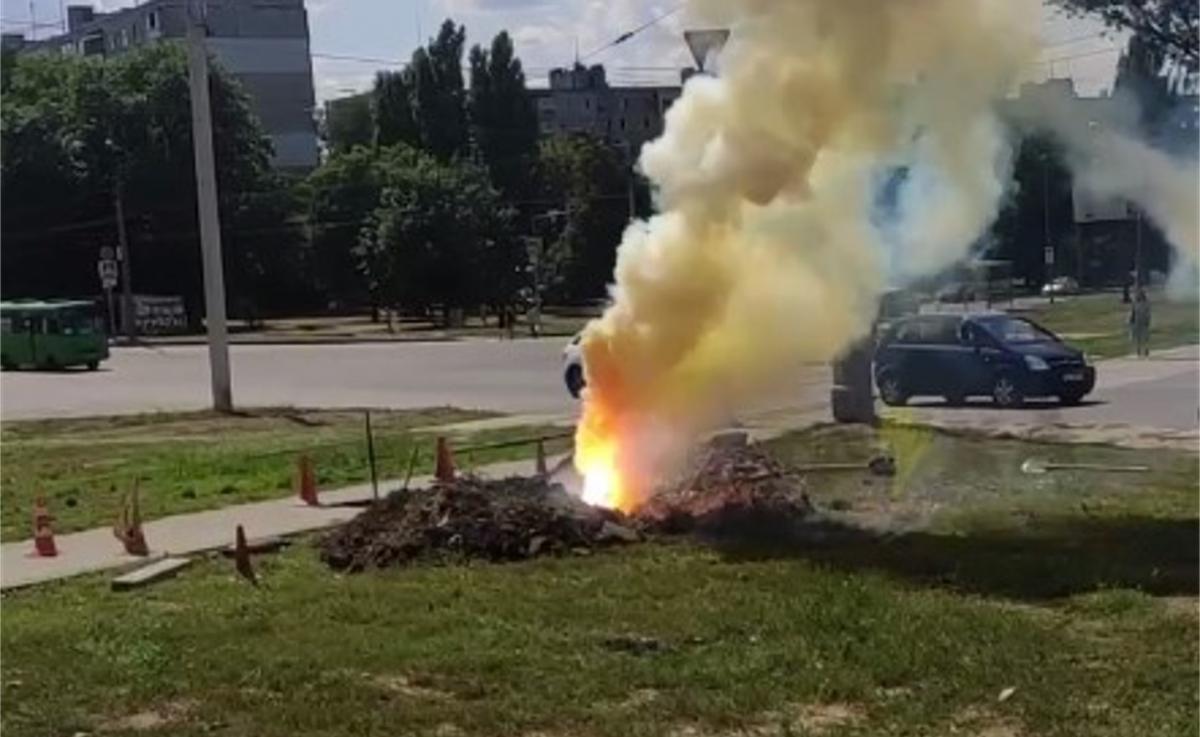 Інцидент стався на Салтівці / скріншот з відео