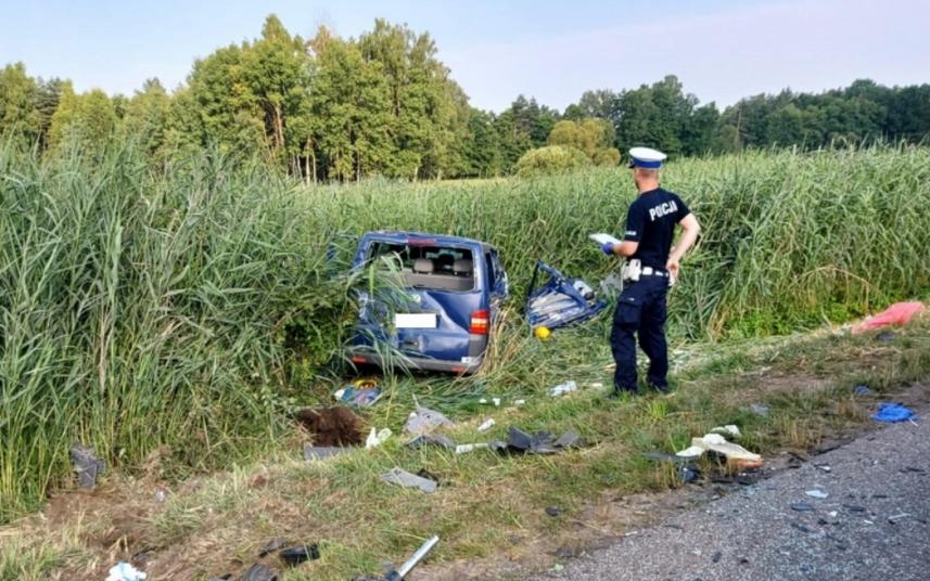 ДТП влаштувала нетвереза жінка-водій \ фото KPP Radomsko
