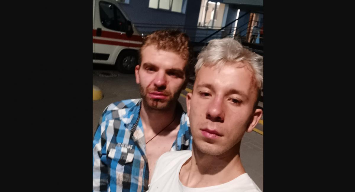 """Во Львове избили """"недостаточно мужественных"""" парней / Facebook"""