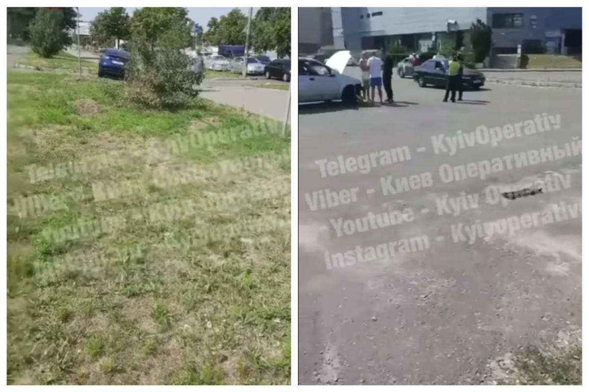 ДТП сталася на столичній Троєщині / скріншот відео
