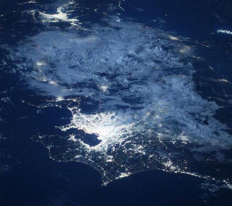Астронавти показали, як виглядає Токіо з космосу \ instagram.com/nasa/