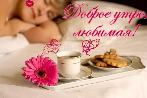 Как пожелать любимой хорошего дня / bipbap.ru