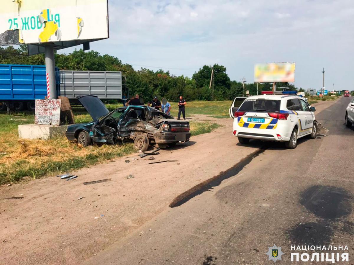 ДТП за участю поліції сталося в Першомайську/ фото прес-служба поліції Миколаївської області