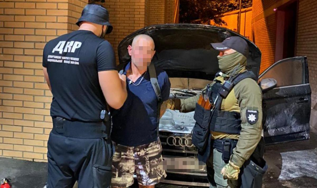 Преступники пытались скрыться с места происшествия / фото Нацполиция