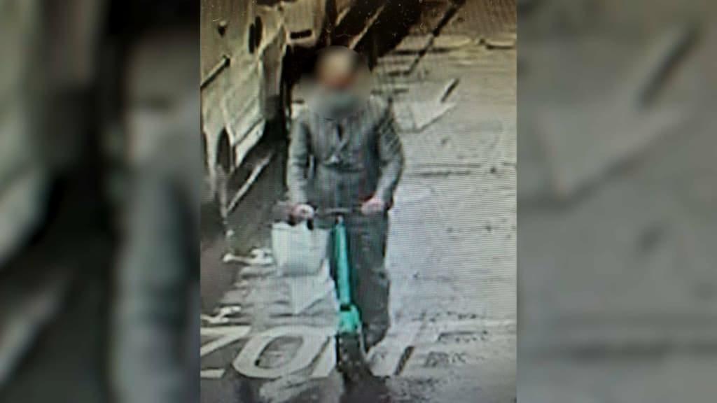 Підозрюваний у сірому костюмі пересувався на електросамокаті / скріншот bfmtv.com