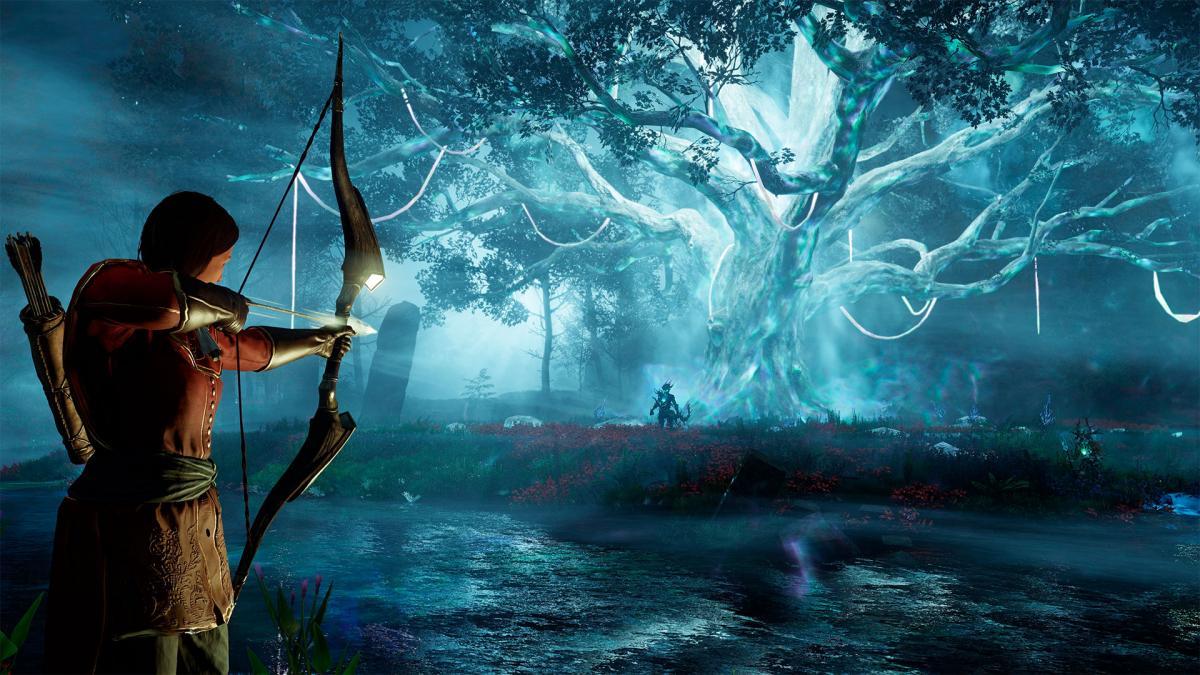 В игре можно носить с собой два оружия, а их выбор заменяет специализацию / фото Amazon Games