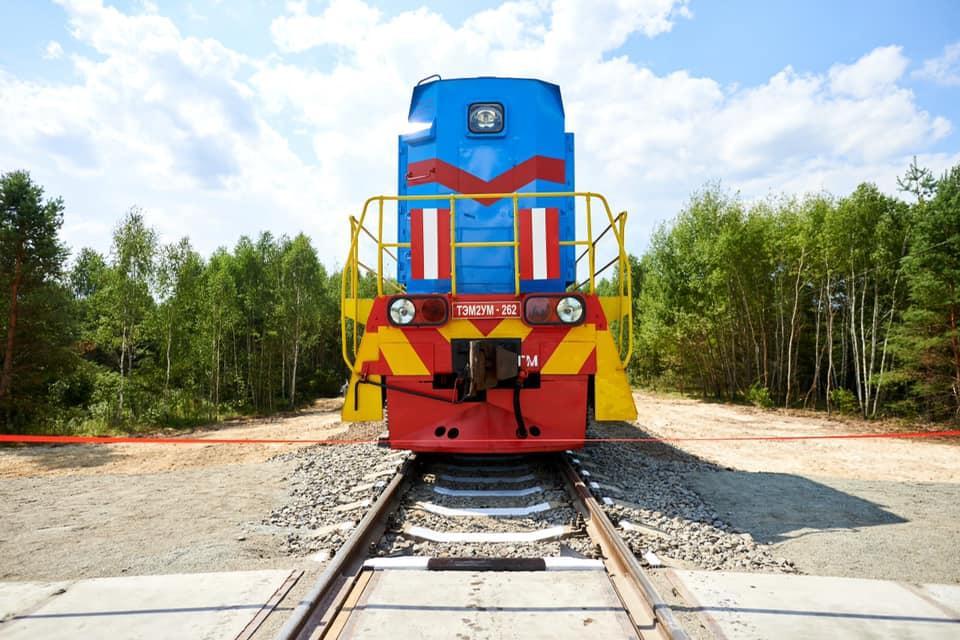 Участком проехал первый тестовый поезд / фото facebook.com/Ukrzaliznytsia