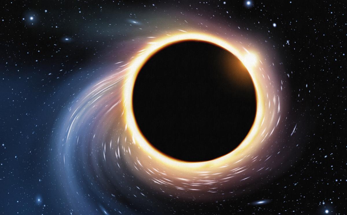 Астрономи не очікувалипобачити щось з-за чорної діри, оскільки світло не може вирватися з неї / фото ua.depositphotos.com