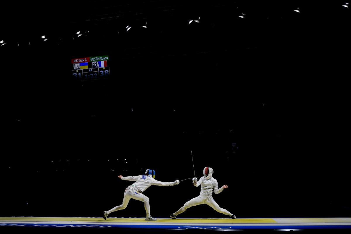 Богдан Нікішин проти француза Ронана Густіна / фото REUTERS
