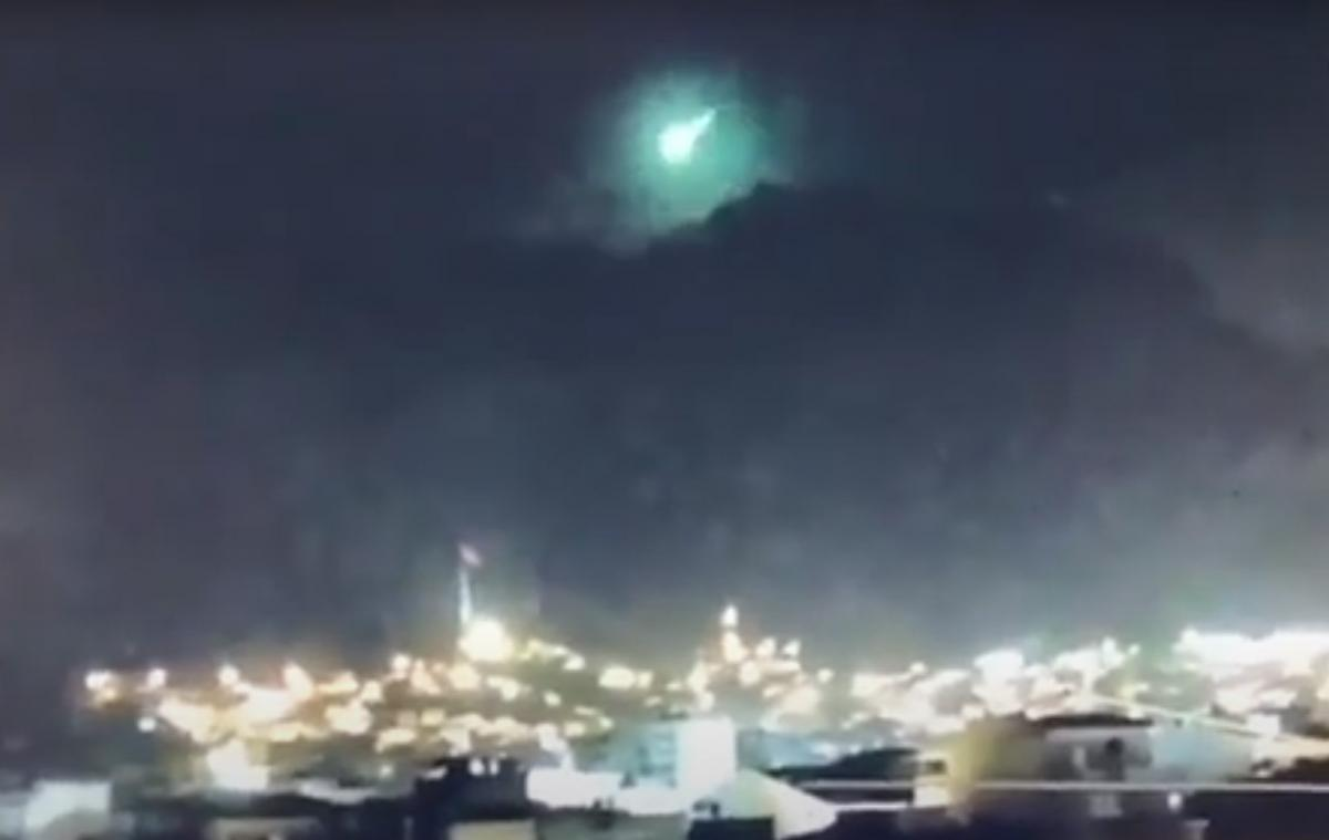 Метеорит было видно в Измире/ скриншот из видео