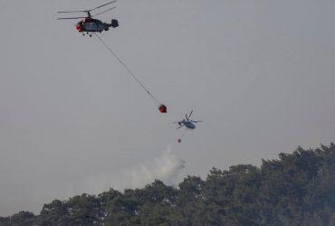 Лесные пожары в Турции: украинские спасатели показали, как помогают тушить огонь (видео)