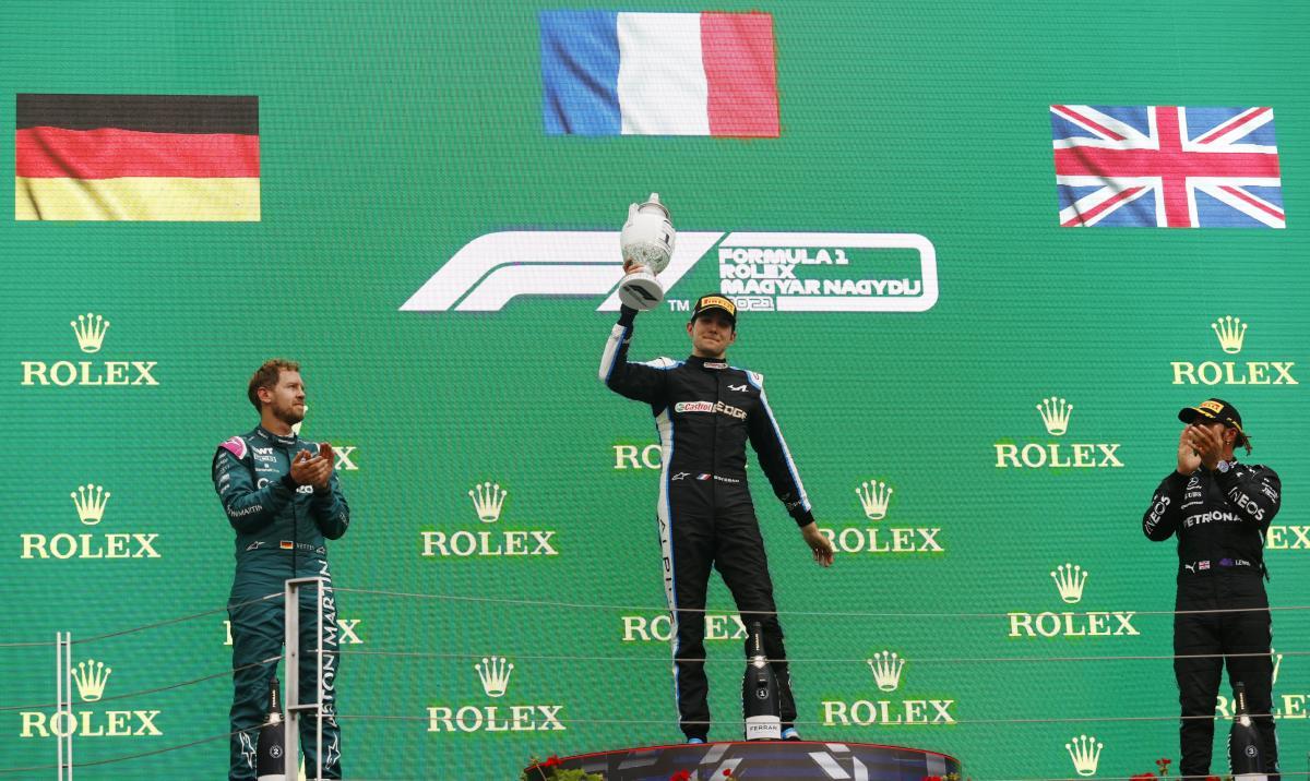 Подиум на Гран-при Венгрии / фото REUTERS