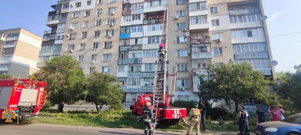 В Бердянске женщина выпала с балкона на девятом этаже / фото zp.dsns.gov.ua