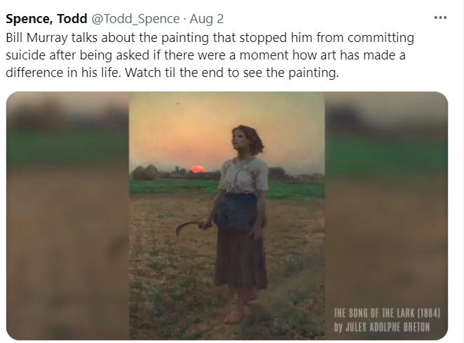 Картина, которая спасла актеру жизнь / twitter.com/Todd_Spence