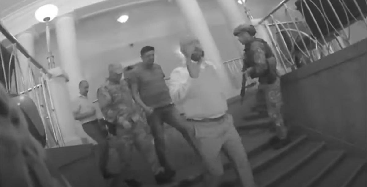 Задержание ветерана АТО показали на видео / скриншот