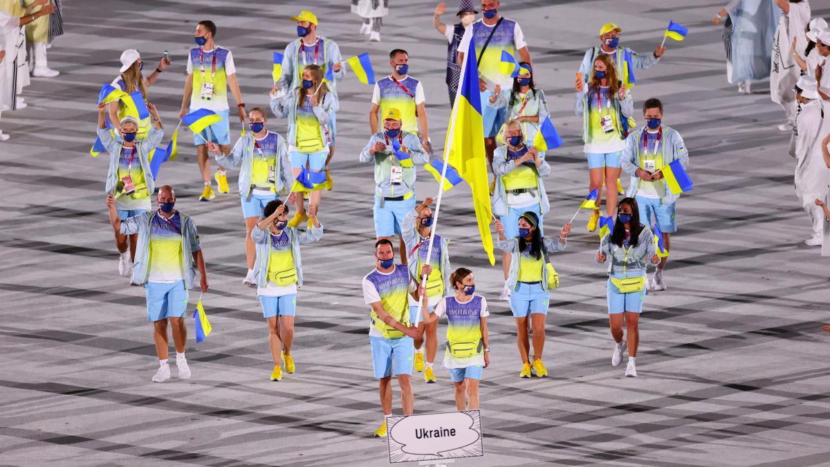 Украина на открытии Олимпиады / фото REUTERS