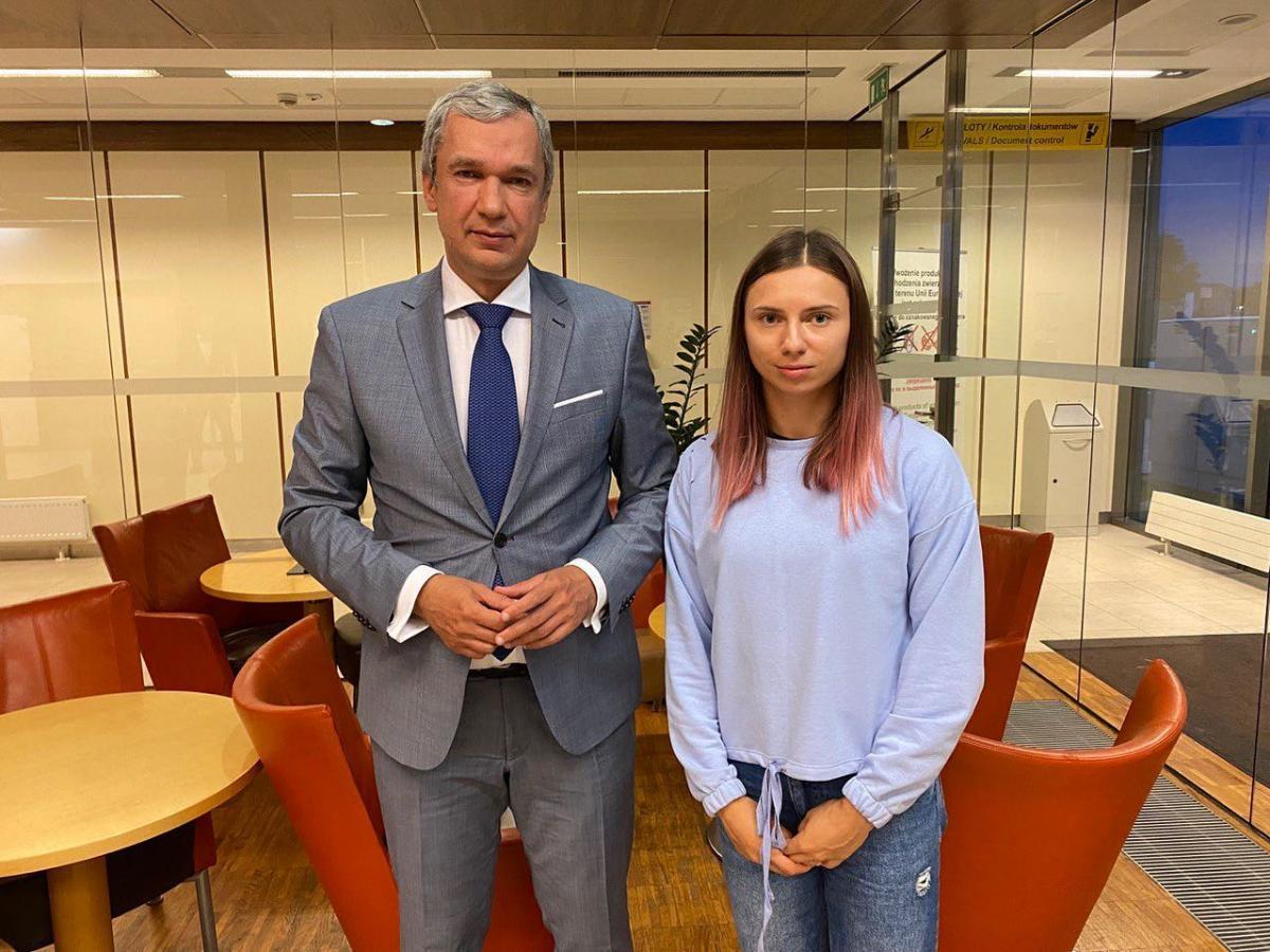 Христина Тимановська прибула до Польщі/ фото facebook.com/Latushka