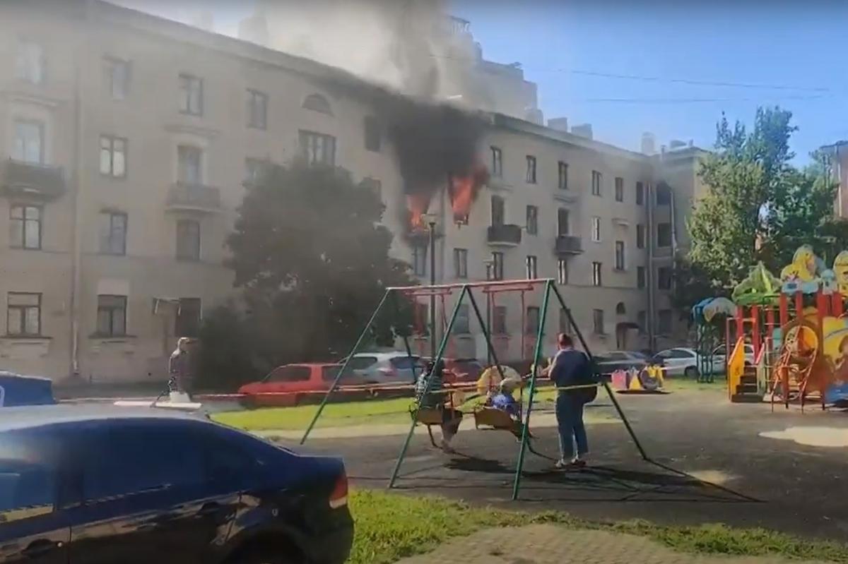 Пожежники впоралися з вогнем за півгодини / скріншот з відео