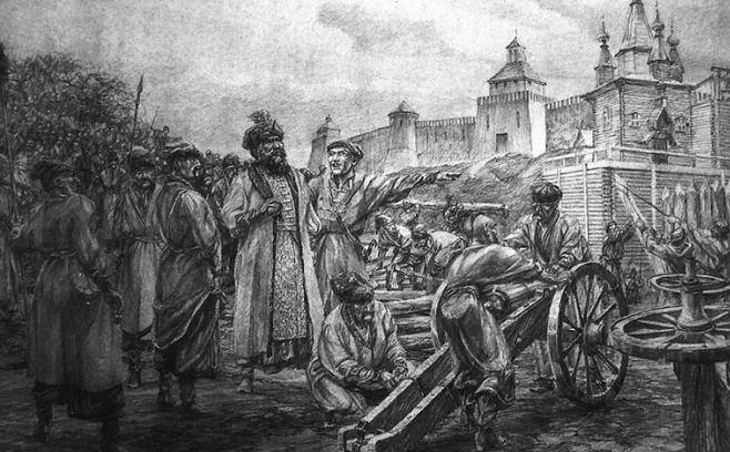 Петр Сагайдачный с козаками / Картина Андрея Серебрякова