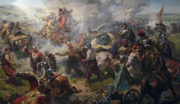 """Картина Юрия Саницкого """"Битва под Желтыми водами"""""""