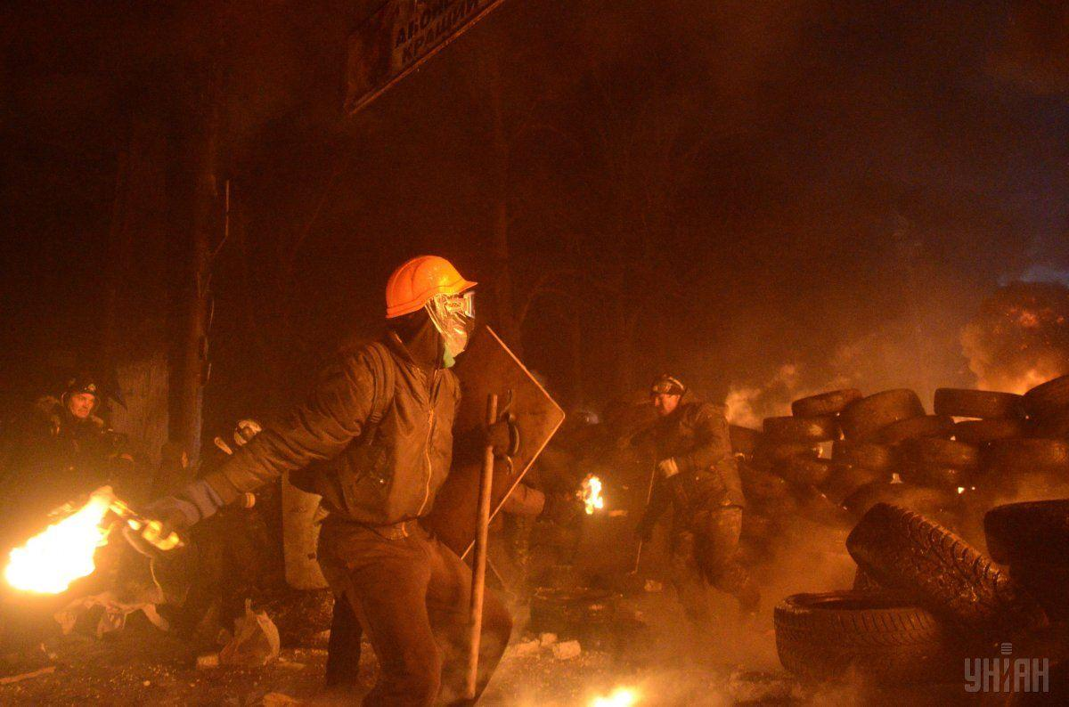 Горящая «Груша» стала началом горячей фазы Евромайдана / УНИАН