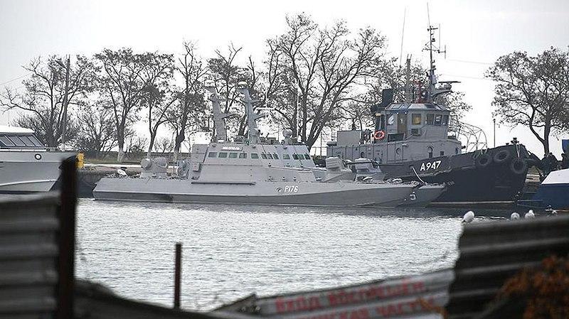 Захваченные украинские катера и буксир в подконтрольном РФ крымском городе Керчь / glava.rk.gov.ru