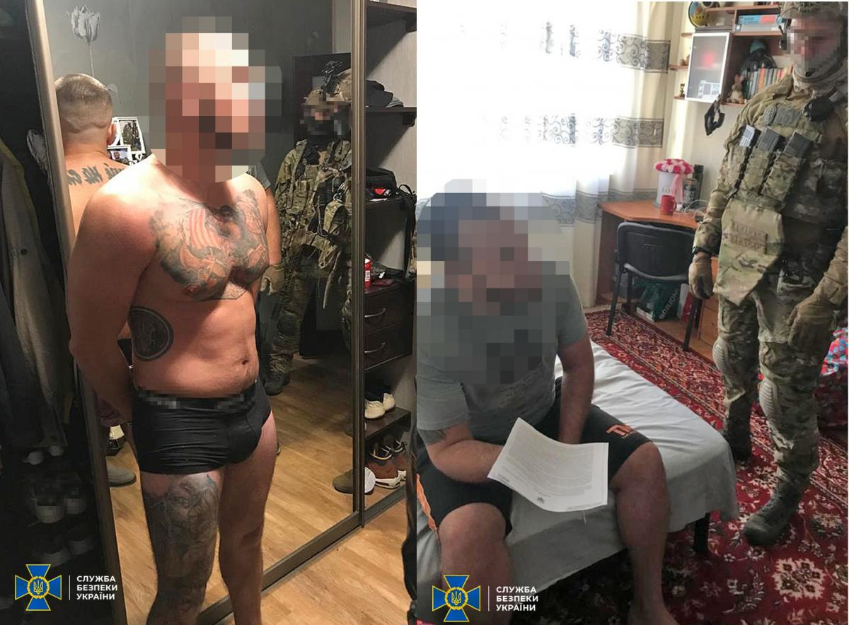 The attackers blackmailed businessmen and set fire to cars / ssu.gov.ua