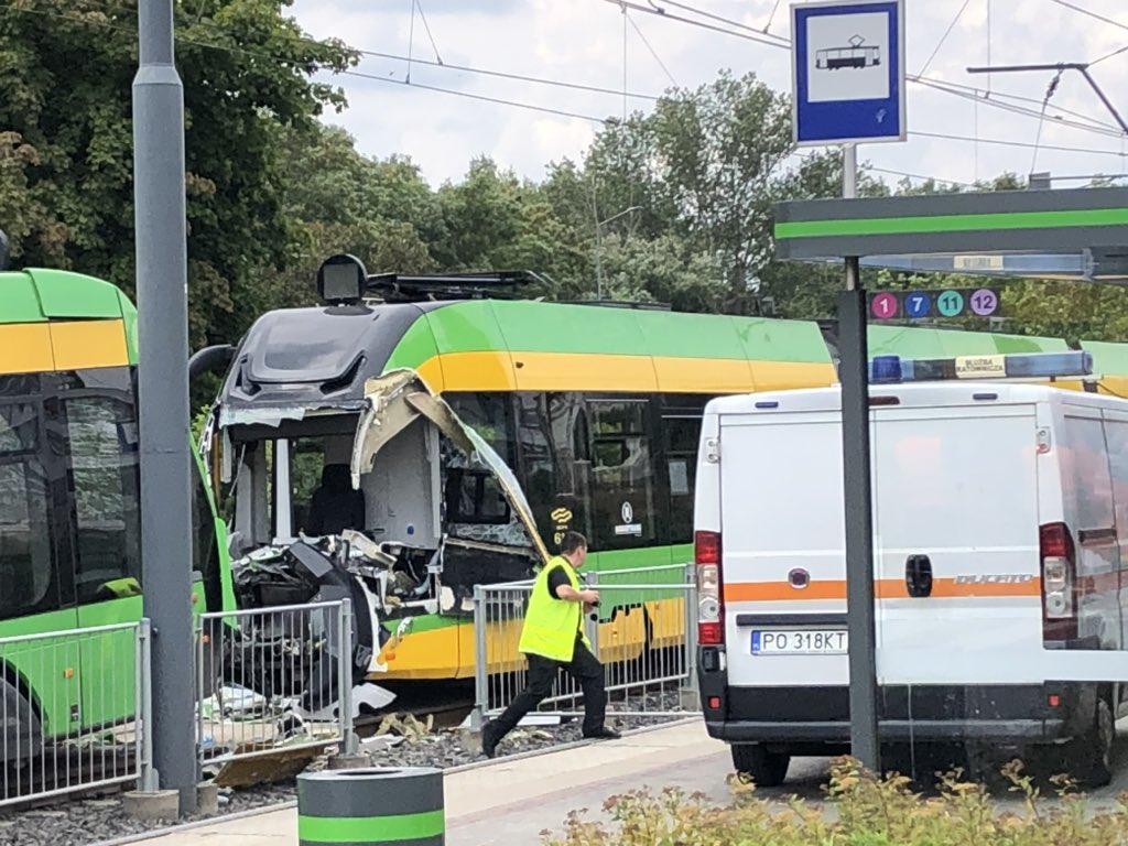 У Познані зіткнулися трамваї / Twitter, Mateusz Chłystun