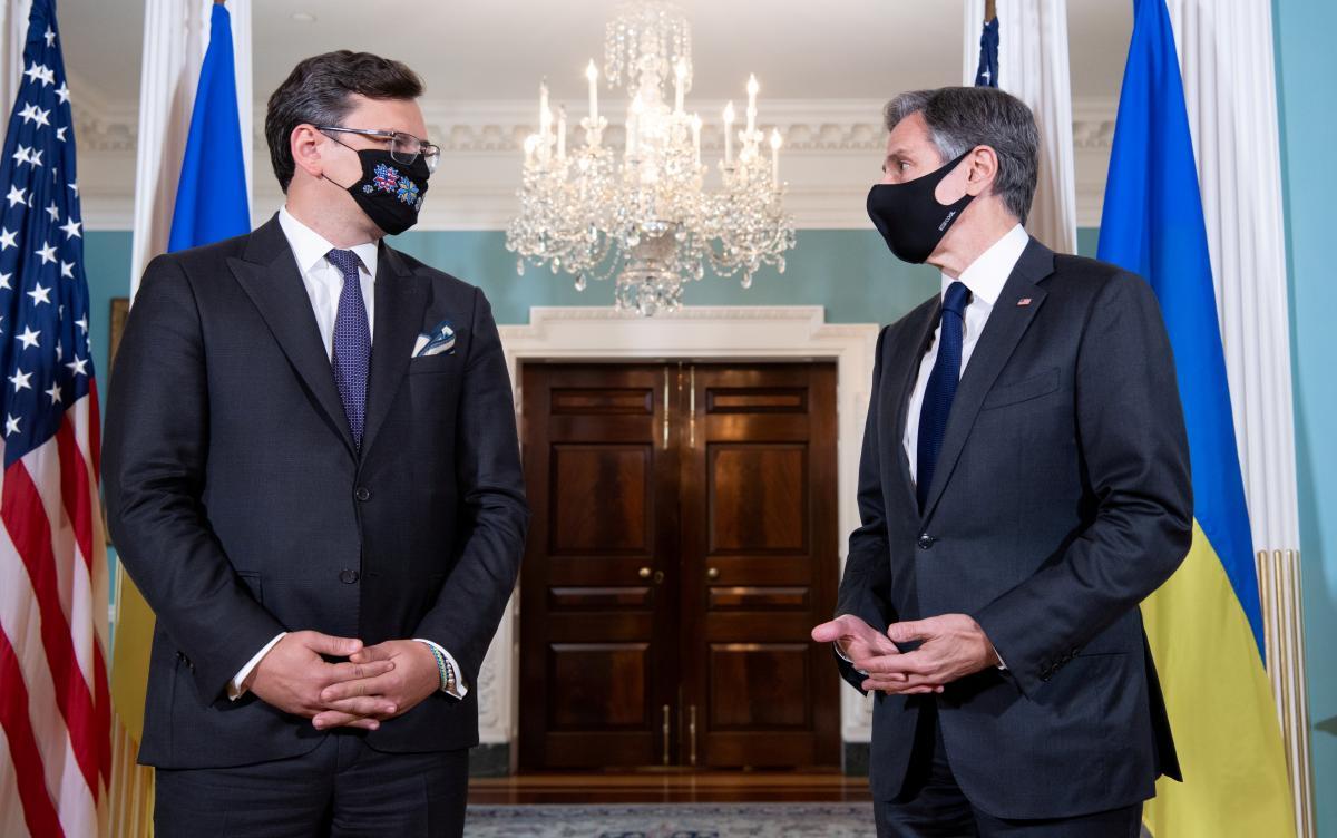 ДмитроКулеба зустрівся з держсекретарем США ЕнтоніБлінкеном/ фото REUTERS