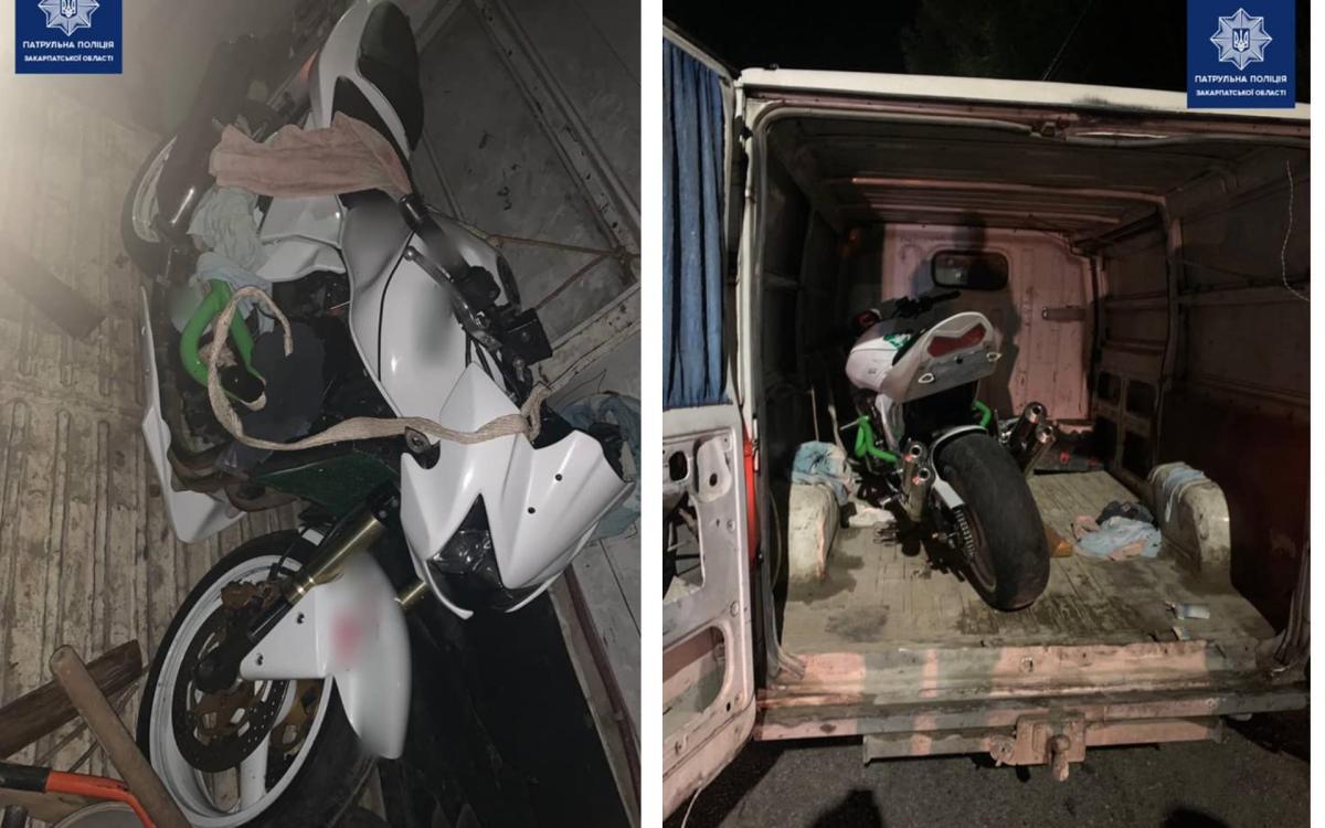 Водитель и пассажир не могли объяснить происхождение двухколесного транспортного средства / фото facebook.com/zakpolice