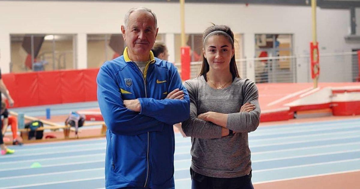 Виктор Шевцов со своей подопечной Мариной Килипко / фото instagram.com/maryna_kylypko