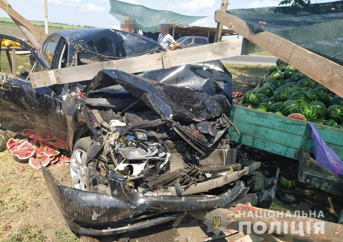 Consequences of road accident near Odessa / photo National police
