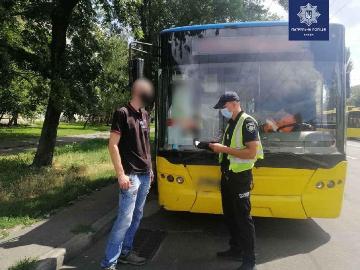 Водитель троллейбуса находился в состоянии наркотического опьянения / фото patrol.police.gov.ua