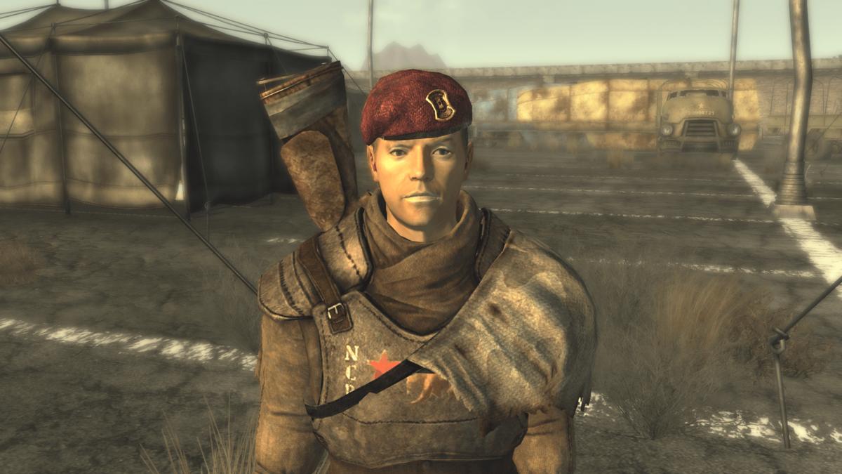 Лейтенант Горобец из Fallout New Vegas / скриншот