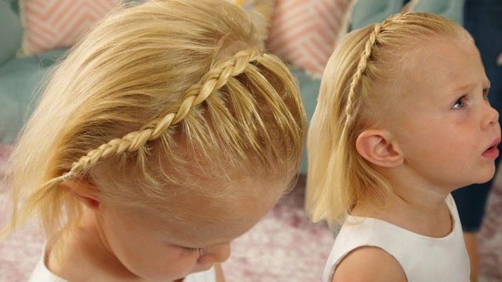 Коса-полувенок на короткие волосы / vplate.ru