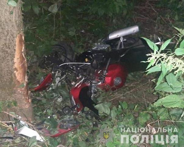 На Тернопольщине мотоциклист погиб в день 18-летия / фото tp.npu.gov.ua