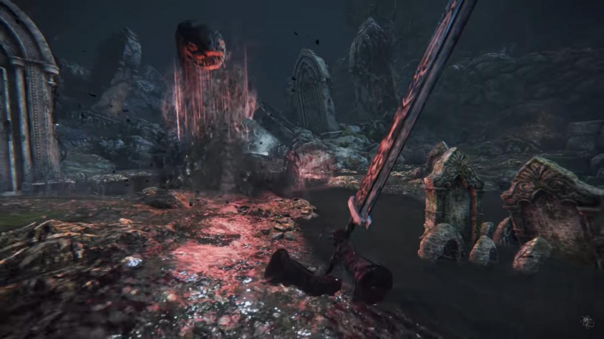 Bloodborne с видом от первого лица / скриншот