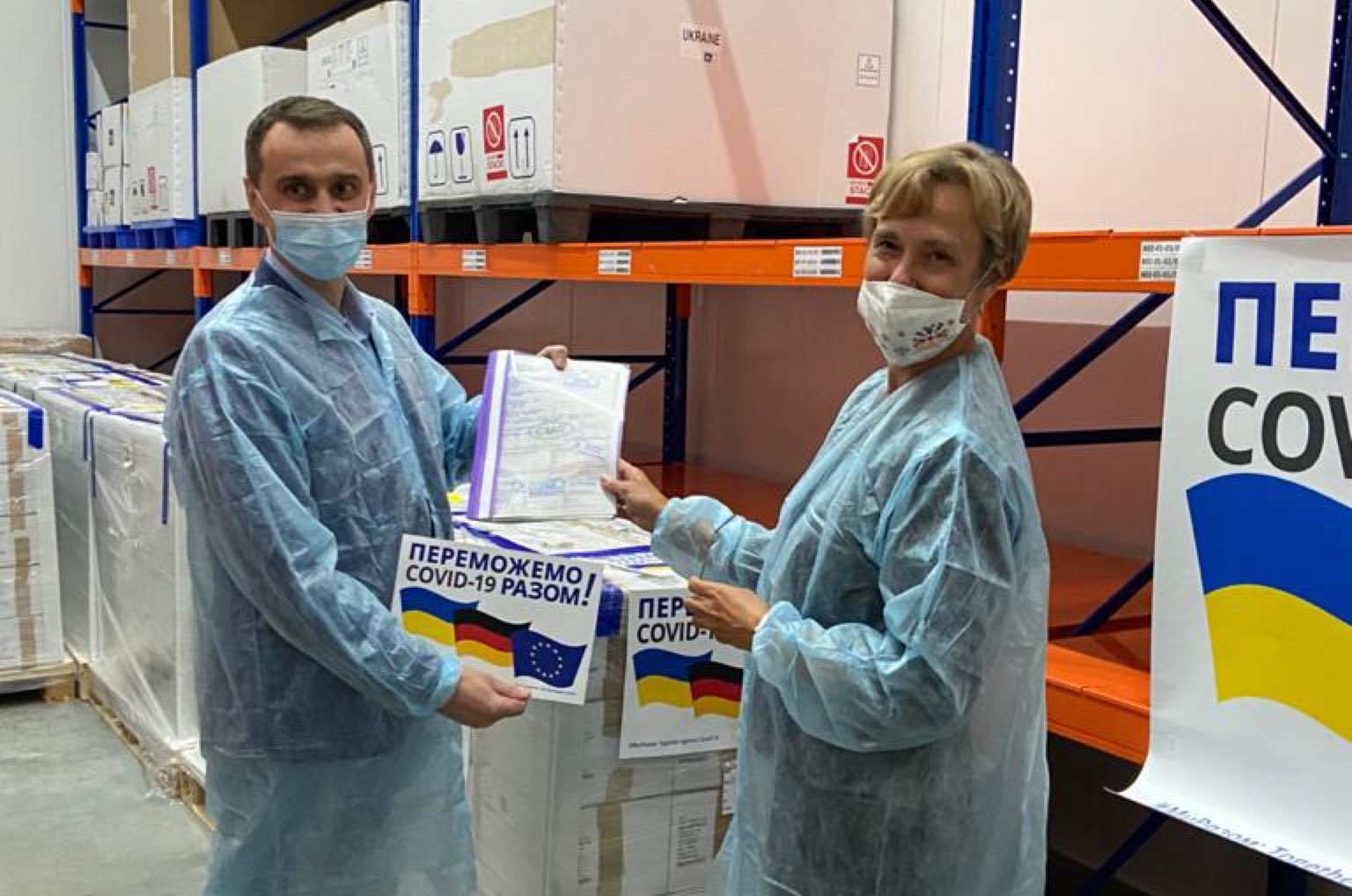 It is noted that Ukraine became the first country to receive vaccines from Germany on a bilateral basis / photo twitter.com/GermanyinUA