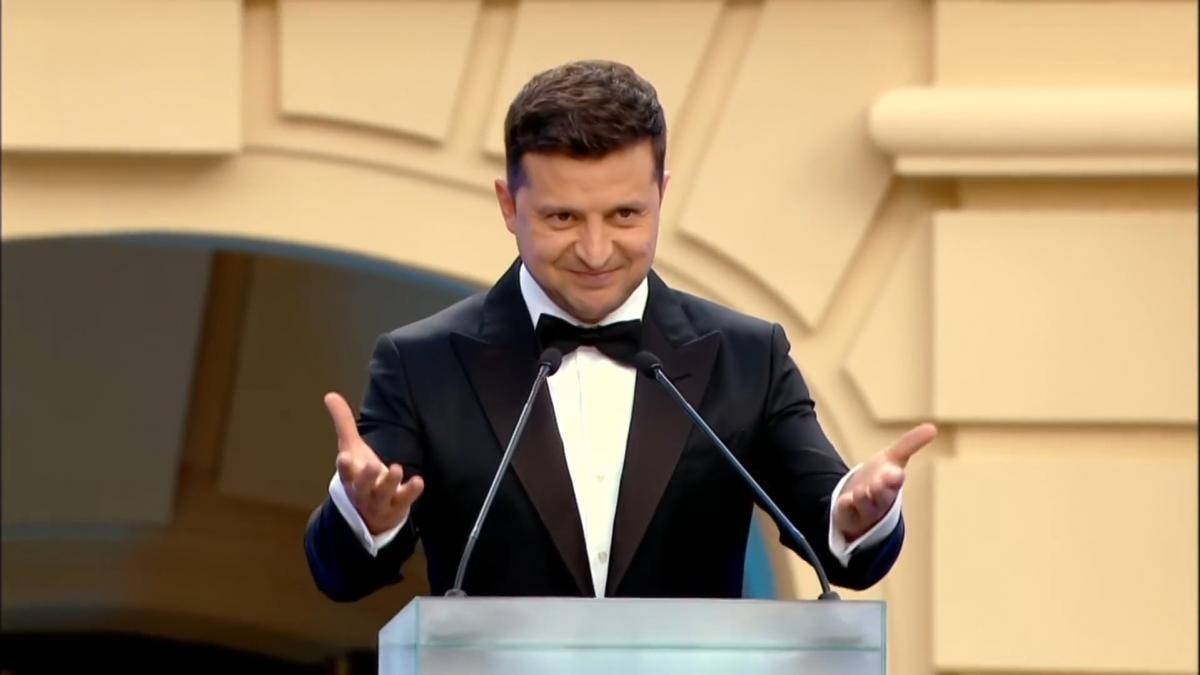 Volodymyr Zelenskyi during the award ceremony / video screenshot