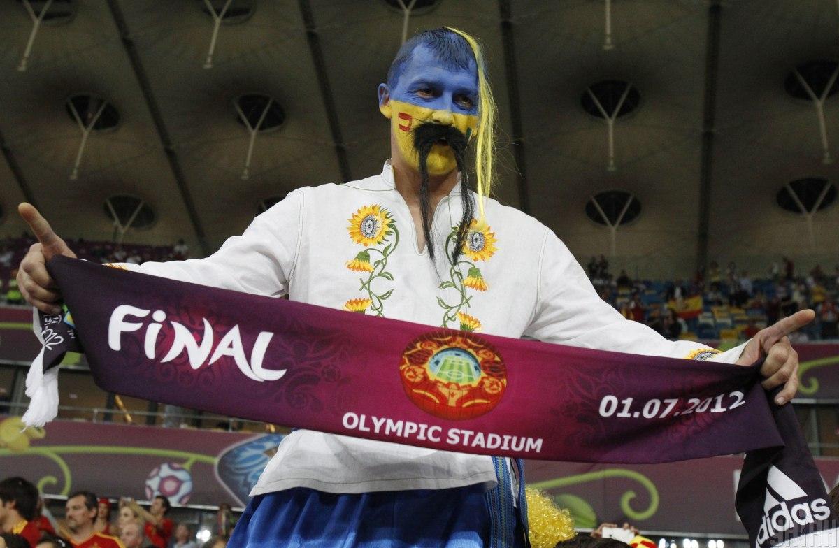 Український вболівальник на фіналі Євро-2012 / фото УНІАН